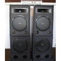 Combo Profesional De Sonido 2400w Mas Potencia Apx1200
