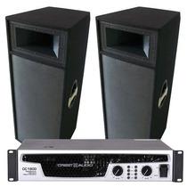 Crest 2 Columnas Cp215 + Amplificador De Potencia Cc1800