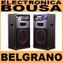 Bafles Amplificado Par Panacom Sp-3360 2400w Usb/bt Belgrano