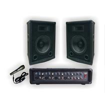 Combo Consola 5 Canales 200w + 2 Bafles Alf 10 - La Roca -