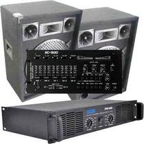 Equipo De Sonido Completo Mixer Potencia Y Dos Bafles