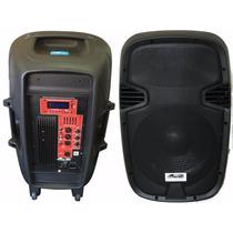 Nuevo Bafle Activo 15 Pulgadas Radio Fm Bluetooth Mp3 Pl1540