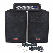 Combo Audio Blg Consola Pot Usb+2 Bafle15 *yulmar Avellaneda