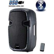 Bafle Activo Potenciado 15 450w Bluetooth Usb Sd La Roca