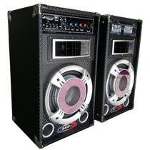 Bafles Amplificados 1200w Potencia!! Usb/sd Home Dvd Karaoke