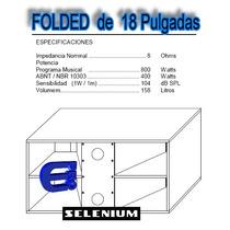Plano Para Construir Foldeds De 18 Pulgadas Low Sub Graves