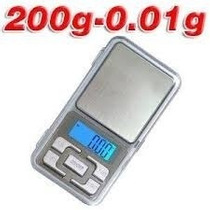 Balanza Digital De Precisión 0.01g A 200g Con Display Y Pila
