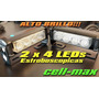 Balizas Flash Ambar 2 X 4 Leds 8watts. Auxilio / Grua