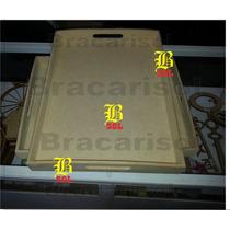 10 Bandejas Fibrofacil 30x40 5,5mmdesayuno Casitas Laser