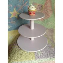 Torre, Bandeja, Alzada, Exhibidor De Cupcakes 3 Pisos