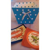 Bandejas De Cartulina De 8x8x10 Alto. Souvenirs Cumpleaños