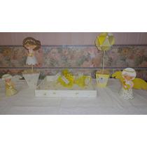 Bandeja De Fibrofácil Decorada Con Decoupage 40x30 Souvenirs