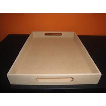 Bandejas Desayuno Madera Mdf Fibrofacil 5 De 30x40x5;5mm