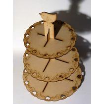 Candy Bar Fibrofacil Portacupcakes Muffins Mdf Fibrofacil