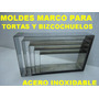 5 Moldes Marco Cintura Rectangular P/ Bizcochuelo Tortas