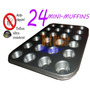 Molde Mini Muffin Teflon X 24 Pirotin Cup Cake Magdalena Net