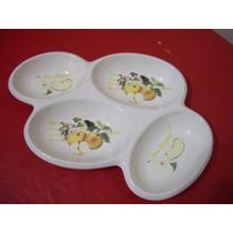 Antiguo Copetinero, Porcelana Sellada Diseño Manzanas