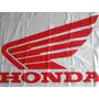 Bandera Honda Motos Fondo Blanco 0,75m X 1,50m