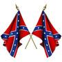Enorme Bandera Confederada * 150 X 90cm Con Cintas Para Atar
