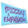 Bandera Pizzas Y Empanadas * 150 X 75 Cm Publicidad Negocio