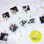 Guirnalda Banderin Fotos Polaroid + Soga + Minibroches Deco