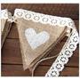 Banderines Arpillera Eventos Casamiento, Baby Shower, Civil