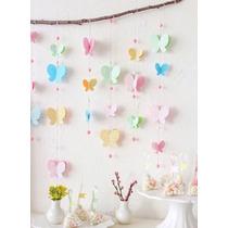 Guirnaldas. Mariposas. Eventos Infantiles. Decoración. Mesas