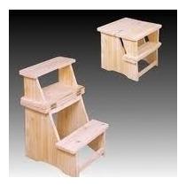 Como hacer un banco de madera banco escalera de madera de for Taburete escalera cocina