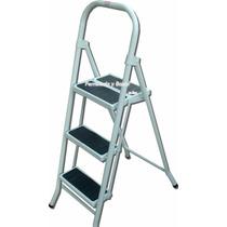 Escalera Metalica Plegable 3 Escalones Acero (no Aluminio)