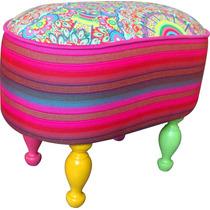 Butaquitas Diseño!! 50x50x50, Silla Decoración Living Pana!!