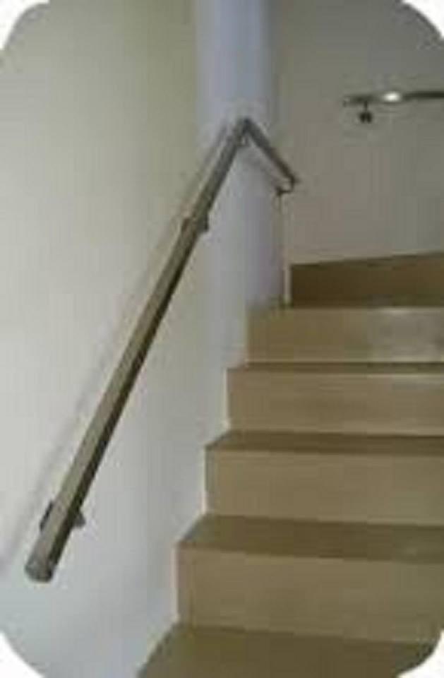 Pasamanos para escaleras pasamanos de madera acero share - Pasamanos de escalera ...