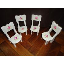 Sillas En Madera Para Barbies- Casa De Muñecas