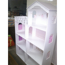 Casita De Muñecas Barbie..xxl- 4 Pisos Totalmente Decorada!!