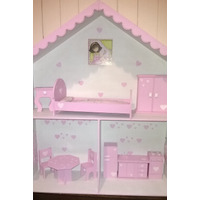 Casita De Muñecas Barbie Y Monsterhigh Con Muebles Oferta !!