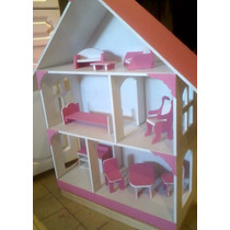 Casita De Muñecas De Barbie Con Muebles