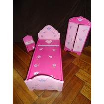 Dormitorio Para Barbies- Casa De Muñecas