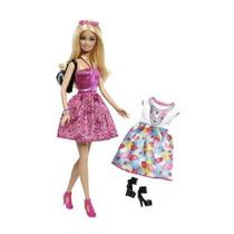 Muñeca Barbie Con Vestidos Y Accesorios, Exclusiva