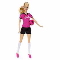 Muñeca Barbie Quiero Ser Futbolista Original Mattel
