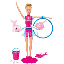 Barbie Entrenadora Delfines Original Mattel Video Tv! Jiujim