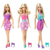 Barbie Con Anillo De Regalo, Original Mattel