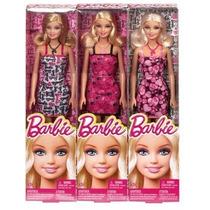 Muñeca Barbie Basica Con Vestido, Zapato Y Collar Mattel