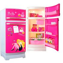 Nueva Heladera Barbie Original Tv Con Acc. Juguetes Lloret