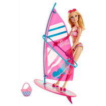 Barbie Let´s Go Windsurf Incluye Muñeca Y Tabla Tikitavi