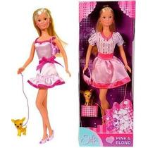 Muñeca Articulada Steffi Love Pink & Blond, Con Mascota!!!