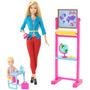Barbie Quiero Ser Maestra Con Pizarron De Verdad Y Nena Matt