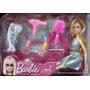 Muñecas Barbie Articuladas + Accesorios + Set De Belleza