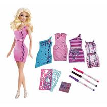 Barbie Estudio De Diseño Y Moda , Muñeca Con 5 Vestidos