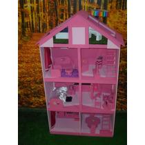 Casitas De Muñecas De Barbie Con Muebles Y Piscina
