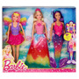 Barbie Fairytopia Set 3 Muñecas, Sirena Mariposa Y Princesa