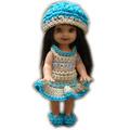 Conjunto De Ropa Para Kelly Tejido Crochet + Accesorios